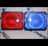 Фары-вспышки GLOT-899, красно-синие